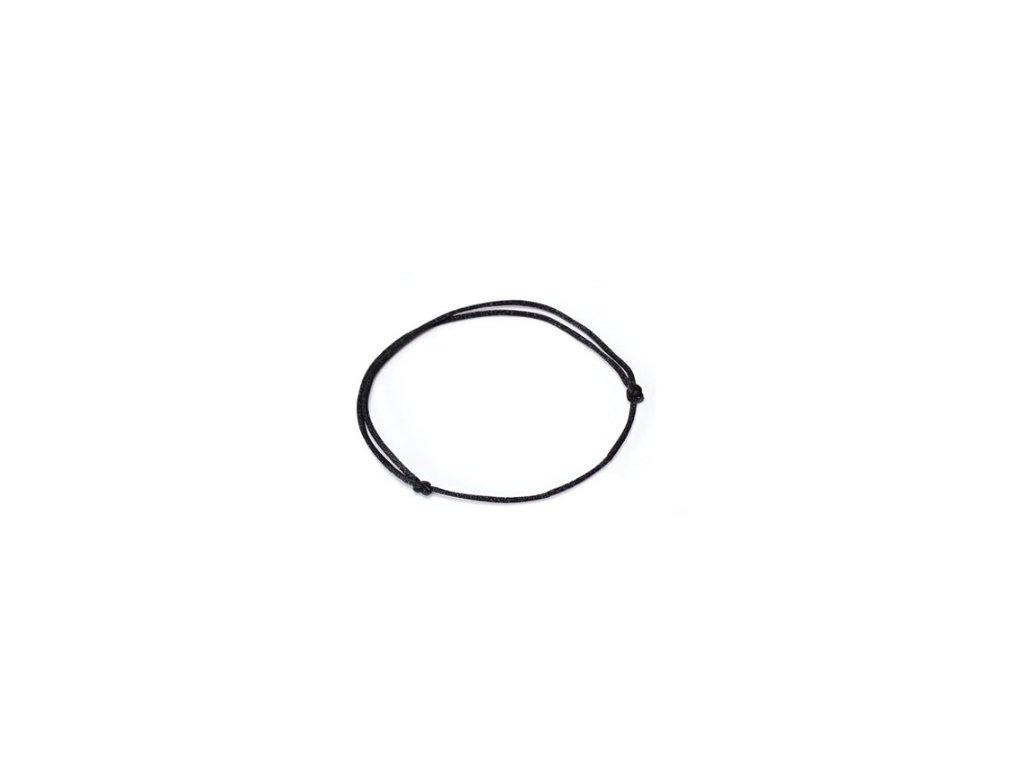 Elastická černá gumička
