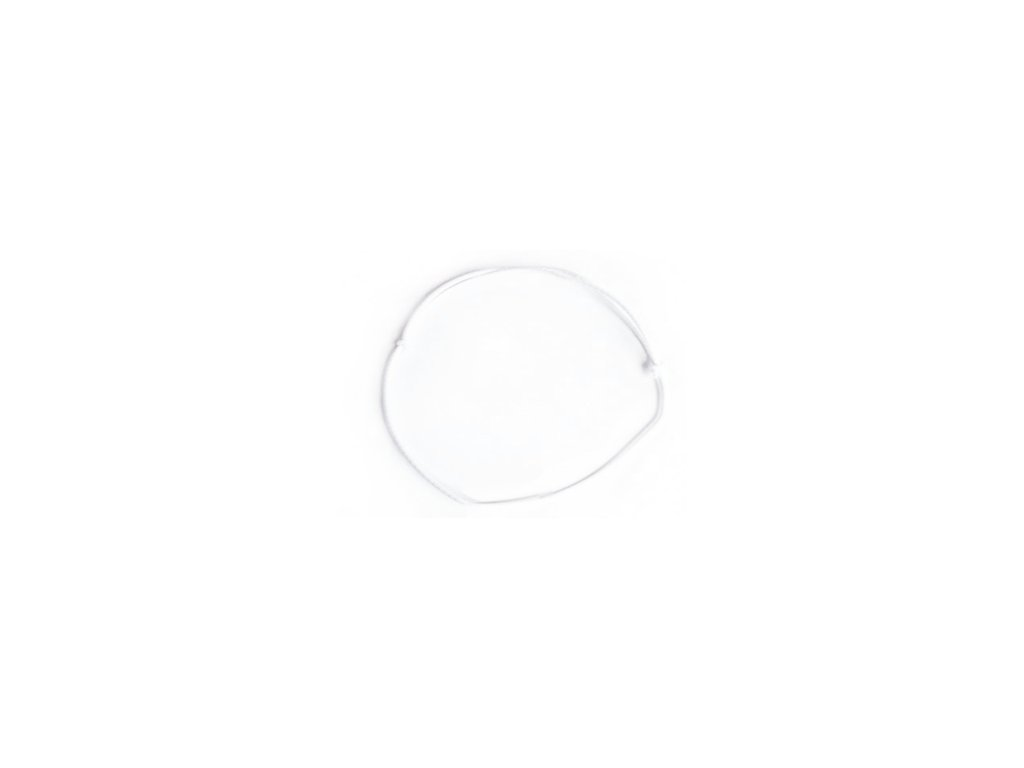 Elastická gumička bílá