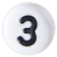 bílé číslo 3