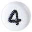 bílé číslo 4
