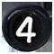 černé číslo 4