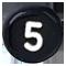 černé číslo 5