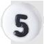 bílé číslo 5