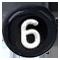 černé číslo 6