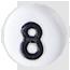 bílé číslo 8