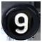 černé číslo 9
