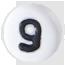 bílé číslo 9