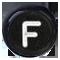 F černé