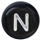N černé