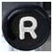R černé