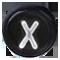 X černé