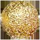 zlatý třpytivý