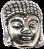 Buddha stříbrný