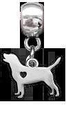 Přívěsek pes (nerezová ocel)