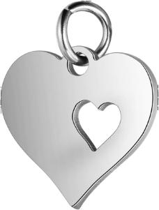Přívěsek srdce (nerezová ocel) - stříbrné