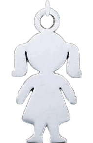 Přívěsek holčička (nerezová ocel)