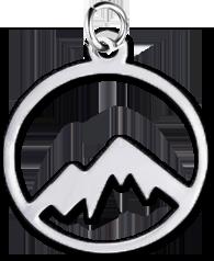 Přívěsek hory (nerezová ocel)