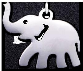 Přívěsek slon (nerezová ocel)