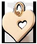 Přívěsek srdce (nerezová ocel) - zlaté